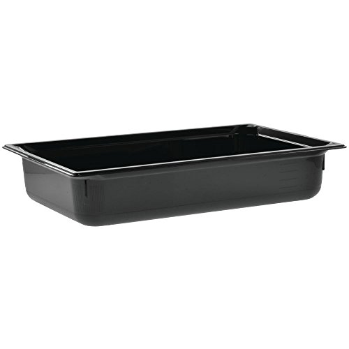 (Vollrath Black Full Size Super Pan 3 13.6 Qt. Plastic Pan)