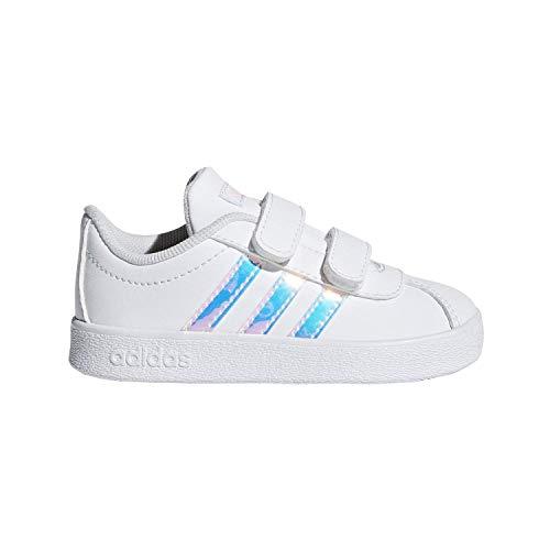 adidas Vl Court 2.0 Infant White/C Blue Infant Shoes 10