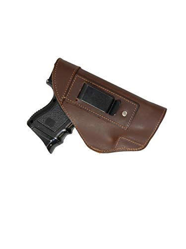 Barsony New Brown Leather Inside The Waistband Holster for Compact Sub-Compact 9mm 40 45