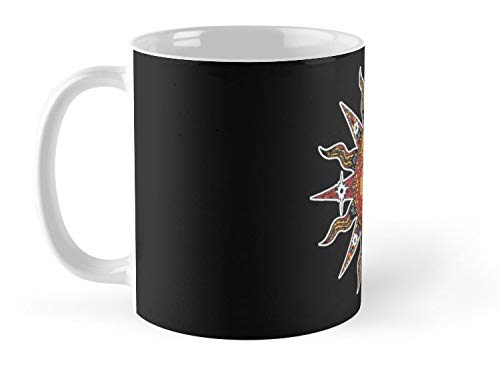 Celestial Mosaic Sun Moon 11oz Mug - Made from Ceramic - Great gift for family and friends