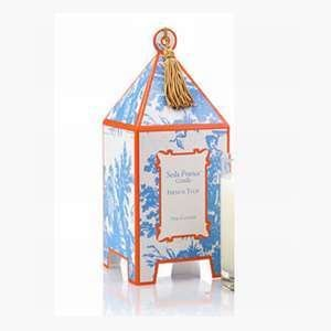 Seda France Classic Toile French Tulip Mini Pagoda Candle by Seda France