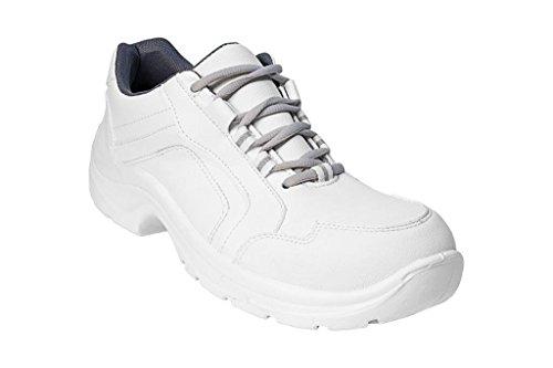 AWC - Calzado de protección de Microfibra para hombre blanco