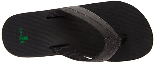 Sanuk Flip Flops - Sanuk Beer Cozy Light Flip F..., Black, 10 UK