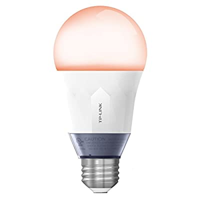 TP-Link Smart Wi-Fi A19 LED Bulb, Works with Alexa, 2700K Dimmable White, No Hub Required