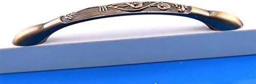 Bigforest Retro avec Carving Cabinet tiroir Armoire Poignée de traction de matériel Bouton Blanc 12,7cm (128mm) trou Centres-10Lot
