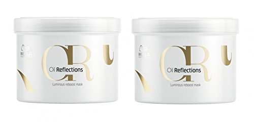 Wella Oil Reflections Luminous Reboost Mask 2 x 500 ml Haar-Kur mit Kamelien-Öl