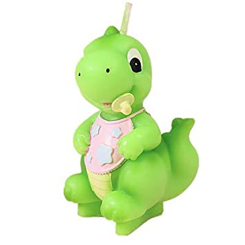 Adorable bebé dinosaurio cumpleaños vela tarta decoración ...