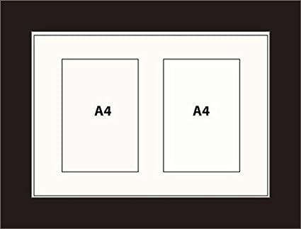 Kwik enmarcación himry marco para fotos de 2 A4 MULTI-cuadro blanco ...