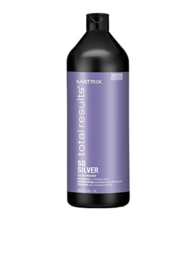 MATRIX Total Results So Silver Color Depositing Purple Shampoo for Neutralizing Yellow Tones, 33.799999999999997 fl. oz.