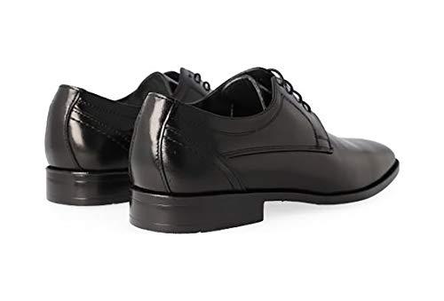 Cabra Y Vestir Negro Forro La De En Luisetti Marca Plantilla Piel Negro 14709 44 Cordones Zapatos Hombre Cierre S8qfCw