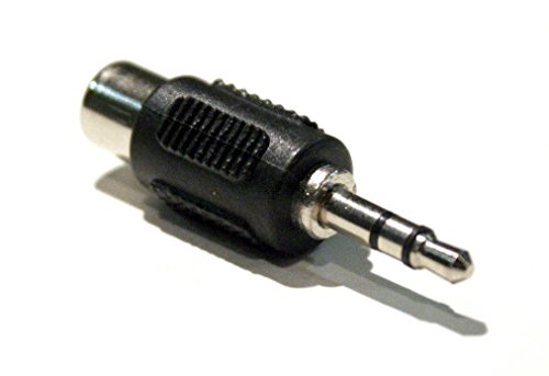 3.5mm (1/8 inch) TRS Stereo Male to Mono RCA Female Adapter Jack Connector ships from USA ()