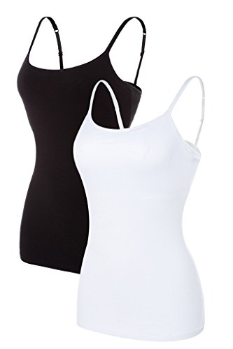 Womens Cotton Strappy Lingerie Camisoles Tank Top Basic Cami Camisole Pack Camis