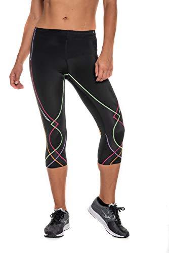 CW-X Conditioning Wear Women's 3/4 Length Stabilyx Tights, Black Rainbow, Small