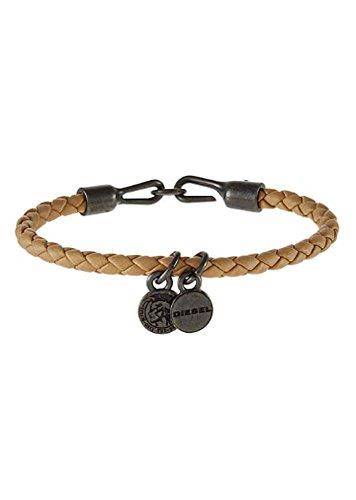 Diesel ASANTY Woven Bracelet, Unisex, Beige
