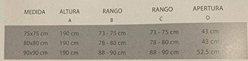 Mampara de ducha semicircular con 2 hojas fijas y 2 hojas correderas con cristal templado decorado de seguridad de 6mm modelo Bricodomo Ecija 75X75: Amazon.es: Bricolaje y herramientas