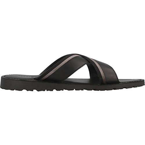 Black Sandalias Hilfiger Hombre Casual Sandal Tommy Leather Cross 08qXgw