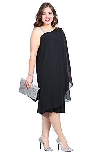 mujer Noche Angelino Vestido para negro qCxPfa