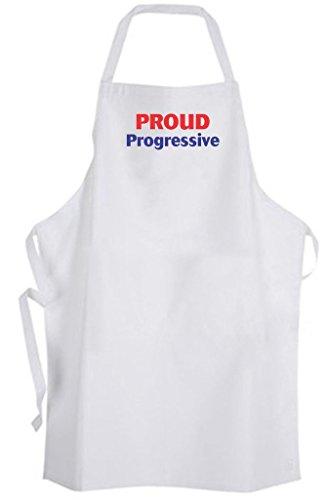 Proud Progressive – Adult Size Apron - Social Reform Liberal Libertarian ()