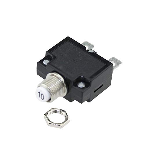 IZTOSS 10Amp Circuit Breakers with manual reset DC50V AC125-250V with Quick Connect Terminals