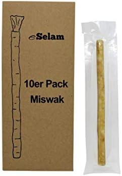 eSelam 10x Premium Miswak, Siwak, Naturzahnbürste, gesunde Zahnbürste, Holzzahnbürste, vegan, natürliche Zahnbürste