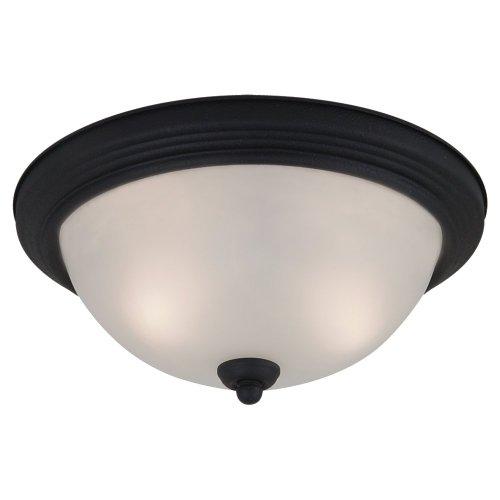 (Seagull 77063-839 One 77063-839-One Light Ceiling Flush Mount Bronze/Dark)