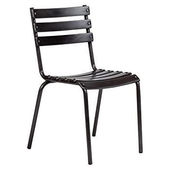 Amazon Com Flash Furniture 4 Pk Black Metal Restaurant