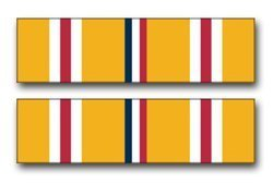 Lancy's Artwork United States Army Asiatic - Pacific Campaign Medal Ribbon Decal Sticker - Sticker Graphic - Auto, Wall, Laptop, Cell, Truck Sticker for Windows, Cars, Trucks, Tool Boxes, laptops