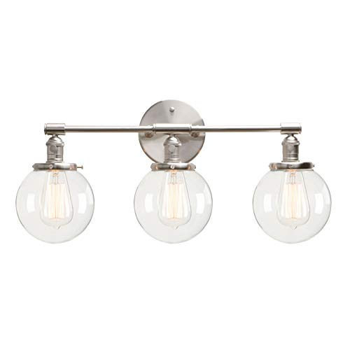 (Permo Vintage Industrial Antique Three-Light Wall Sconces with Mini 5.9