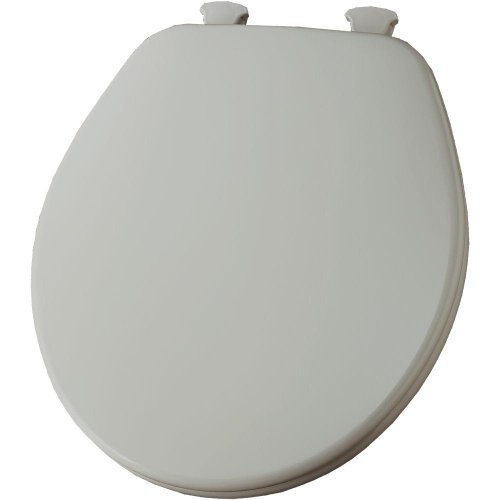 (Church 540EC 062 Lift-Off Round Closed Front Toilet Seat, Ice Grey)
