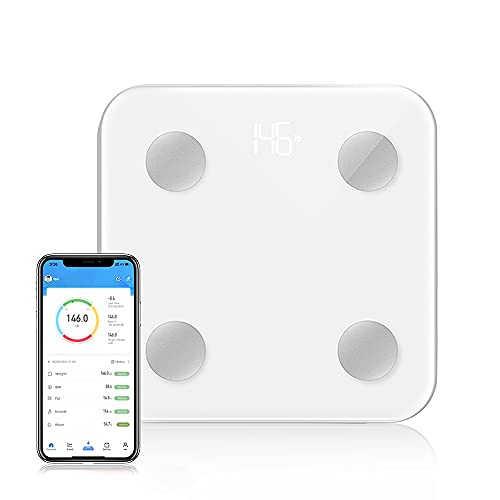 HOUAN Body Fat Scale Bluetooth Digital Body Weight Scales Bathroom Weighing Scale with Smart BMI Scale Body Composition Monitors with Smartphone App