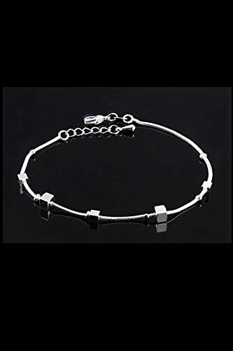 jl16 Box POLPEP Sterling Silver Anklet Bells Foot Chain Women Girls Unique Birthday Gift Elegant Neck Animal Year red String Bow Girlfriend