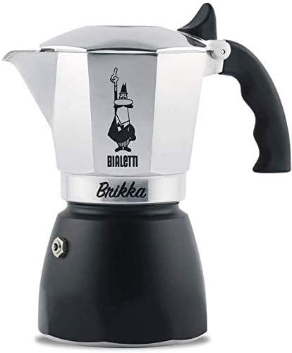 Bialetti - 6184 - Brikka - Cafetière Italienne en Aluminium - 4 Tasses: Amazon.es: Hogar