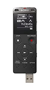Sony ICDUX560BLK Stereo Digital Voice Recorder with Built-in USB from KWT