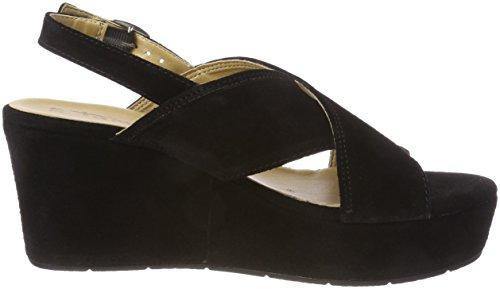 Tamaris 28027, Sandalias de Talón Abierto Para Mujer Negro (Black)