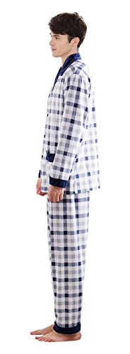 Pj Due Pajama Blue Pezzi 2 3 Usura Set Pigiameria Pigiama Notte Uomo wIYItg