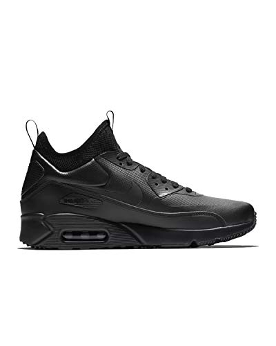 Nike Mens Air Max 90 Ultra Mid Winter Sneakerboot Black/Anthracite 924458-004 Size 9