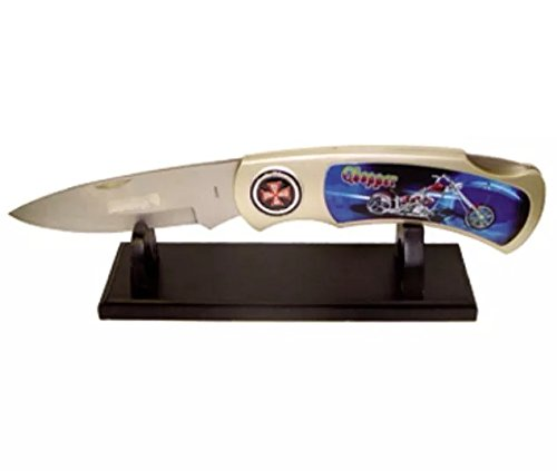 COLLECTIBLE CHOPPER BLUE JUMBO FOLDING KNIFE WITH DISPLAY - Chopper Jumbo