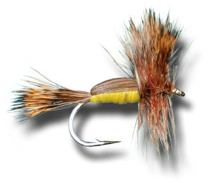 Humpy – Yellow Fly Fishing Fly – Size 12, Outdoor Stuffs