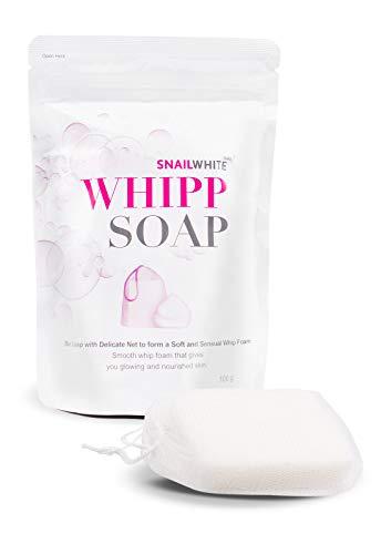 SNAIL WHITE WHIPP SOAP REDUCE WRINKLES DARK SPOTS WHITENING SKIN 100 G  PACK OF 1 (Body Snail Cream Whitening)
