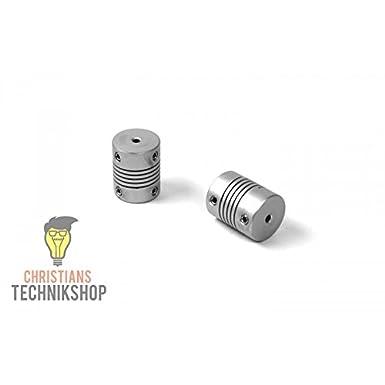 Wellenkupplung 20mm 2,5NM z.B 3D Drucker,Schrittmotoren,etc 3mm//3mm