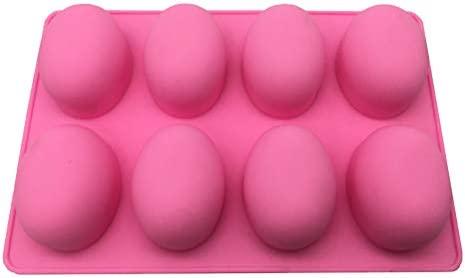 Random  Egg Mold Silicone Chocolate Cake Baking Mold DIY 10-Cavity Easter Colors