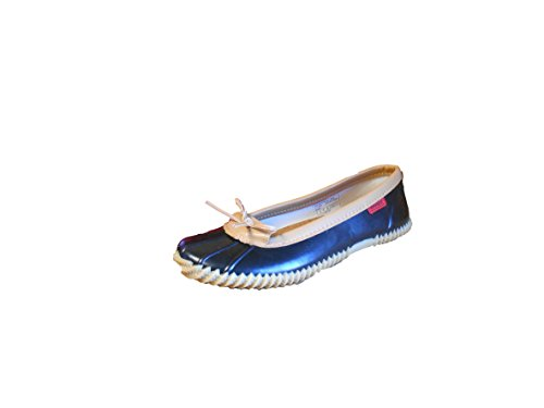 Chooka Womens Duck Skimmer Black Rain Flats 10 M fZ2ccDtUu