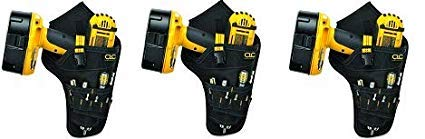 CLC 5023 Deluxe Cordless Poly Drill Holster, Black, 3 ()