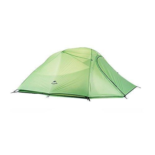 Camping Camping Ultra léger Poteau en aluminium Couche double Tente anti-pluie