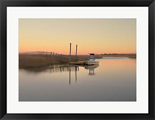 Wall Inlet Frame - Murrells Inlet by Dawn Hanna Framed Art Print Wall Picture, Black Frame, 29 x 23 inches