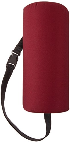 Sammons Preston Half Lumbar Roll with Attachment Strap, D-Shape Low Back Support Cushion, Posture Support Pillow for Spinal Alignment and Curvature, Pain Relief in Head, Neck, Shoulder, Burgundy, 4.5