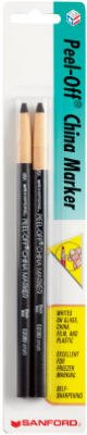 Sanford 2173PP Black China Marker, 2 Pack - Pack Of 6