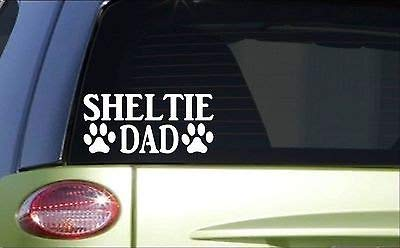 (BrandVinyl Sheltie Dad 8 Inch Sticker Decal Dog Shetland Sheepdog)