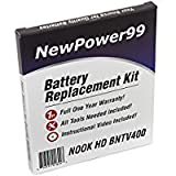 "PC Hardware : Battery Replacement Kit for the Barnes and Noble NOOK HD 7"" BNTV400 Tablet with Installation Video, Tools, and Extended Life Battery"