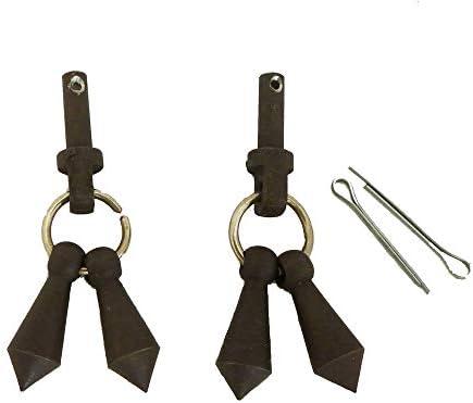 AJ Tack Wholesale Jingle Bobs Cotter Rowel Pins Mens Horse Riding Show Spur Parts Antique Brown